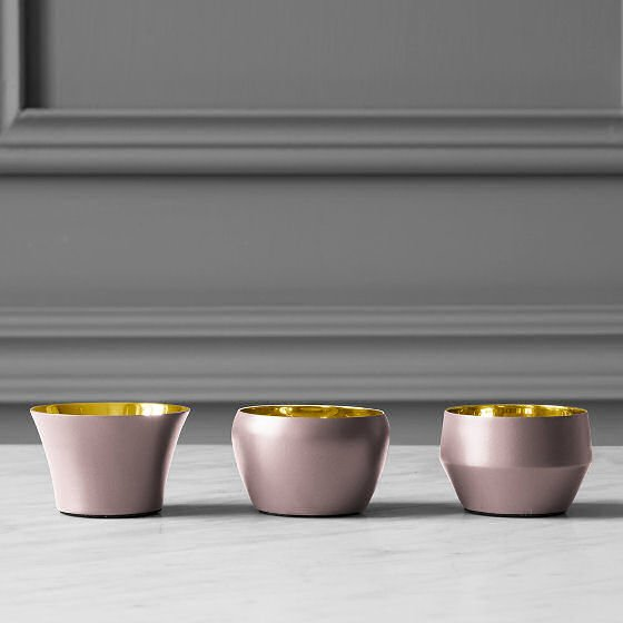 Skultuna brass and pink candle holders - the Kin Collection