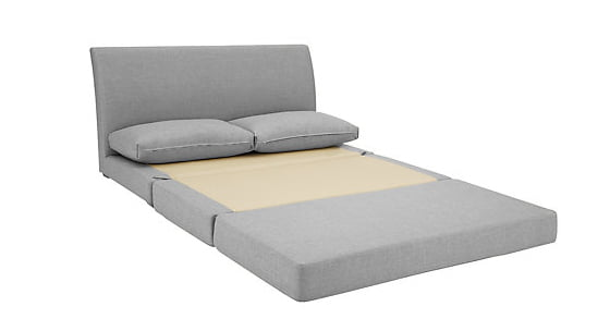 Kip Small Sofa Bed for small spaces extended on floor