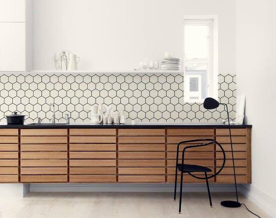wooden kitchen wall wallpaper - photo #40