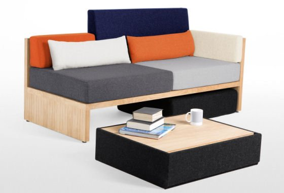 Lovebird sofa rhf multicolour lb2 for Modern sectionals for small spaces