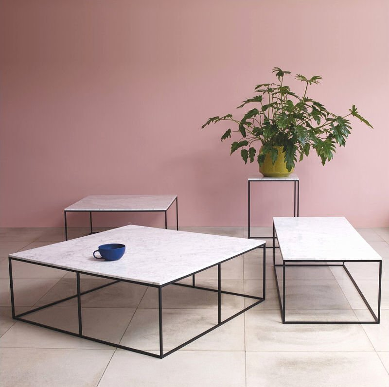 contemporary white marble coffee tables from Habitat