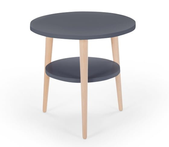 Made.com grey Marcos side table with storage for small rooms