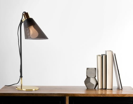 Table Lamp from Memoir Lighting Collection next to ornaments