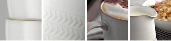 Denby Natural Canvas stoneware range details