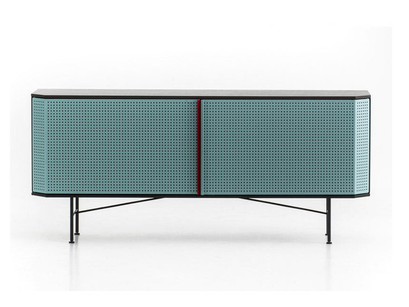Blue statement sideboard the Perf Credenza by Moroso