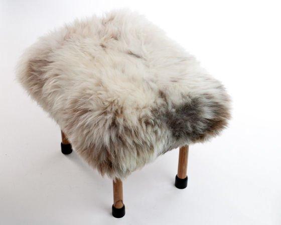 Nerys Sheepskin Footstool by Baa Stool from Clippings