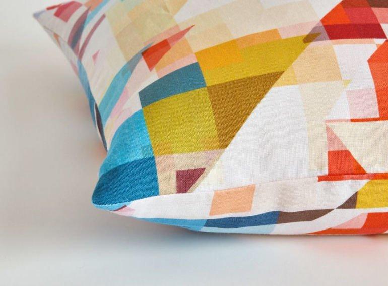 Northmore Major geometric linen cushion cover by Flock Studio