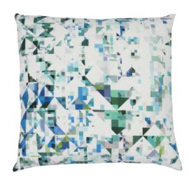 Northmore Teal Linen Cushion by Flock Studio's contemporary home textiles collection