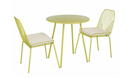 To Finish Our Roundup, The Minimally Styled Metal Miami Bistro Set From  Marks And Spencer Is Available In This Zesty Lime Green Or Cool White. Part 71
