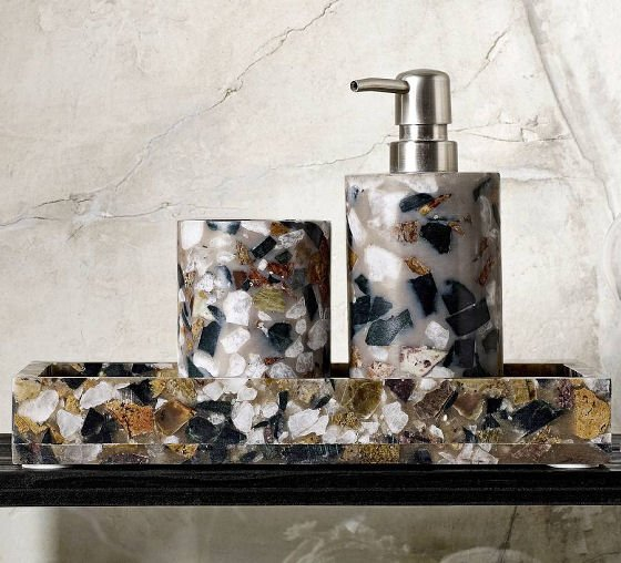 Terrazzo Bathroom Accessories, The Forest and Co