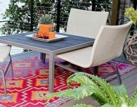colourful outdoor rug