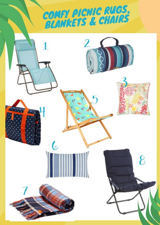 John Lewis picnic rugs and outdoor chairs for picnics