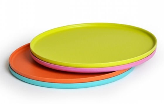 Set of 4 bamboo pizza plates in green pink orange and turquoise ...  sc 1 st  Colourful Beautiful Things & Colourful outdoor tableware for al fresco eating u2022 Colourful ...