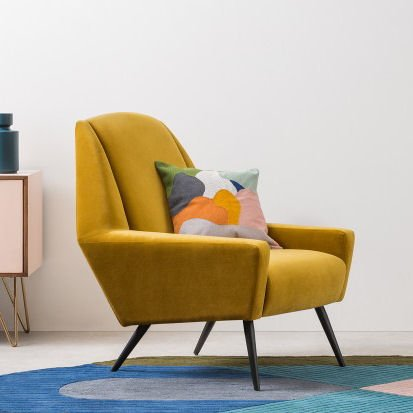Roco mustard yellow accent chair by MADE.com
