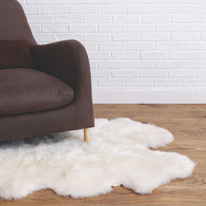 Cream sheepskin rug from Habitat