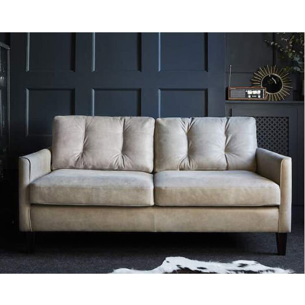 Regent contemporary leather sofa by Darlings of Chelsea