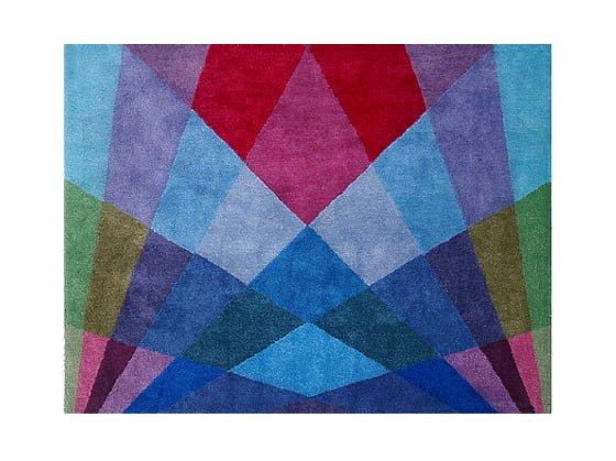 Brightly coloured rug by Sonya Winner