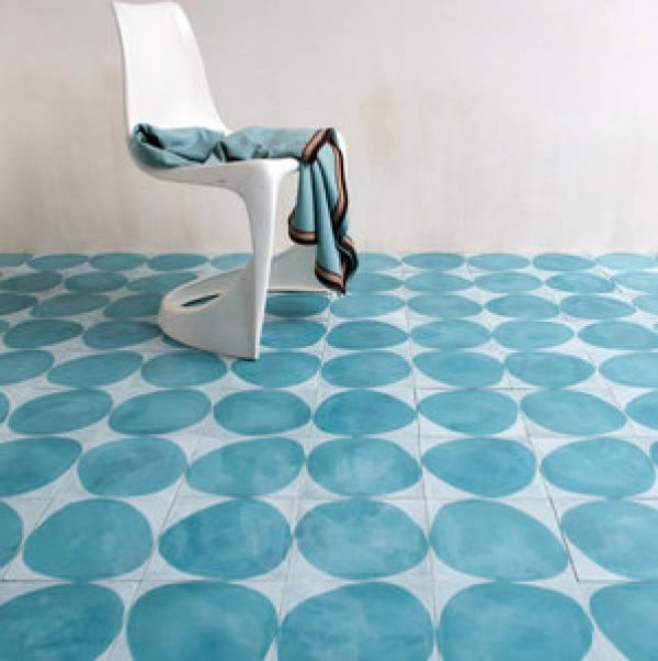 Turquoise Stone design floor tiles by Marrakech Design