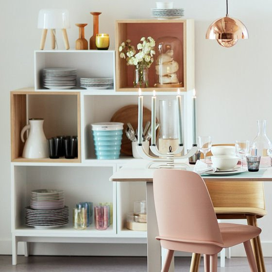 Reconfigurable storage solutions for small spaces with the Muuto Stacked Storage System