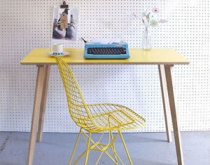 Yellow contemporary desk for home working