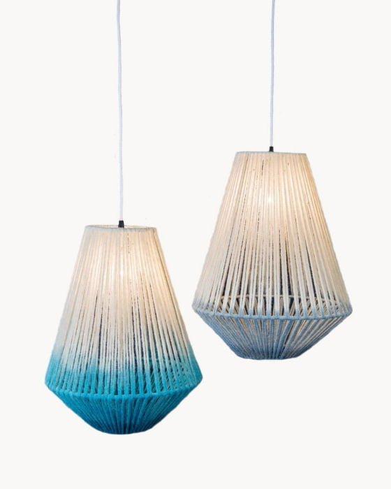 Janie Knitted Textiles wool lampshades at Handmade at Kew 2016