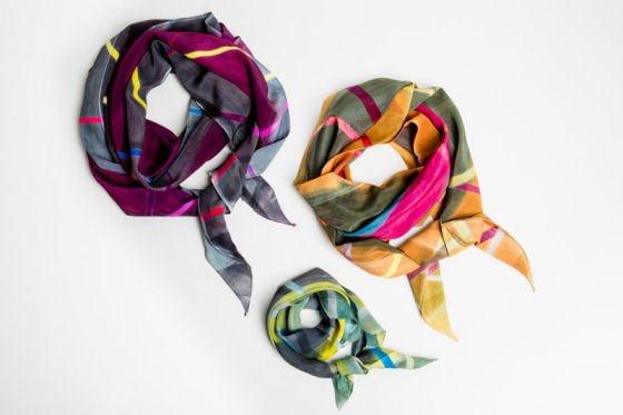 Wendy Edmonds colourful textiles at Handmade at Kew 2016