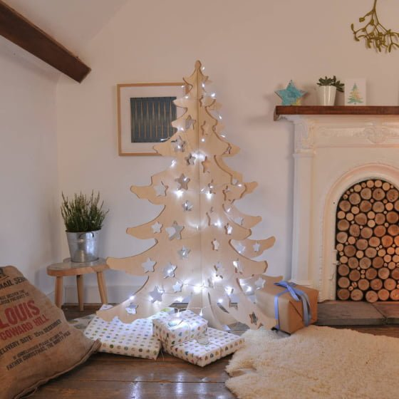 Alternative Contemporary Wooden Christmas Tree
