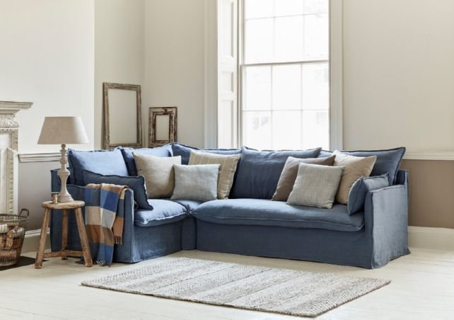 Contemporary fabric corner sofabed from Sofa.com